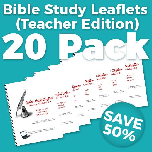 Bible Study Leaflets Teacher Edition 20 Pack Wholesale